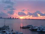 South beach living at sunset, Florida