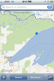 Location of North Shore, Minnesota