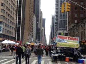 Street fair, Hilton Avenue of the Americas, NYC