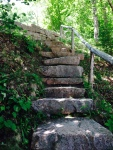 Steps at Eagle Lake on Mount Desert Island