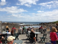 Dining Al Fresco at Perkins Cove, Ogunquit Maine