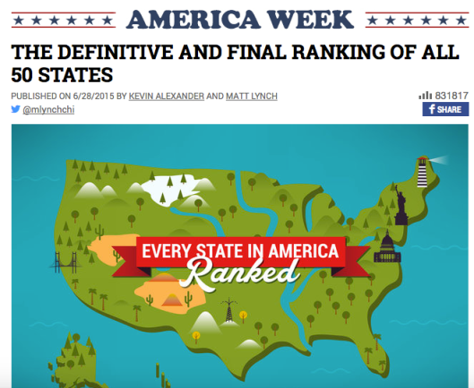 Thrillist: Ranking of All 50 States